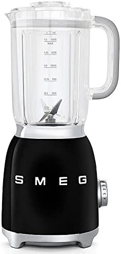 Detachable Stainless Steel Dual Blades Overload Motor Protection 4 Speeds and 3 Preset Programs in Silver Smeg BLF01SVUS Retro Style Blender with 6 Cups Tritan BPA-Free Jug