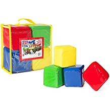 CP Toys Photo Pocket Foam Stacking Blocks - Set of 4 Colorful Blocks with 24 Vinyl Photo Pockets to Personalize - Ages 12 Months+