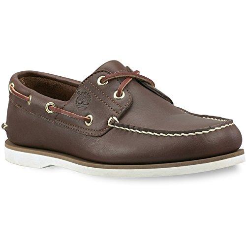 Timberland 2 Eye - Timberland Men's Classic 2-Eye Boat Shoe, Dark Brown, 9 M