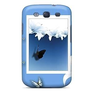 Pretty ZmjVAym97zbtoH Galaxy S3 Case Cover/ Lilies Butterflies Series High Quality Case