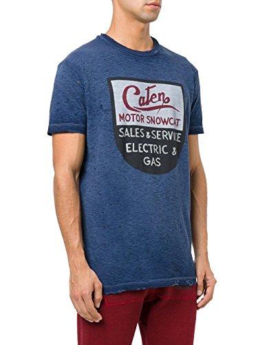Dsquared2 Herren S71GD0565S22146478 Blau Baumwolle T-Shirt