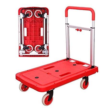 ZXLL CamióN De Plataforma Plegable Silencioso Rojo ...