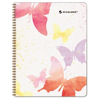 Day Runner Watercolors Recycled Weekly/Monthly Planner(791-905G-13), 8 1/2 x 11 Inches