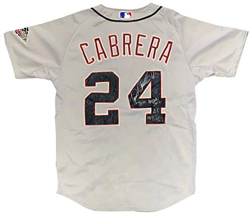 Miguel Games Cabrera (Miguel Cabrera Signed Jersey - Multi Inscribed 2011 All Star Game - Autographed MLB Jerseys)