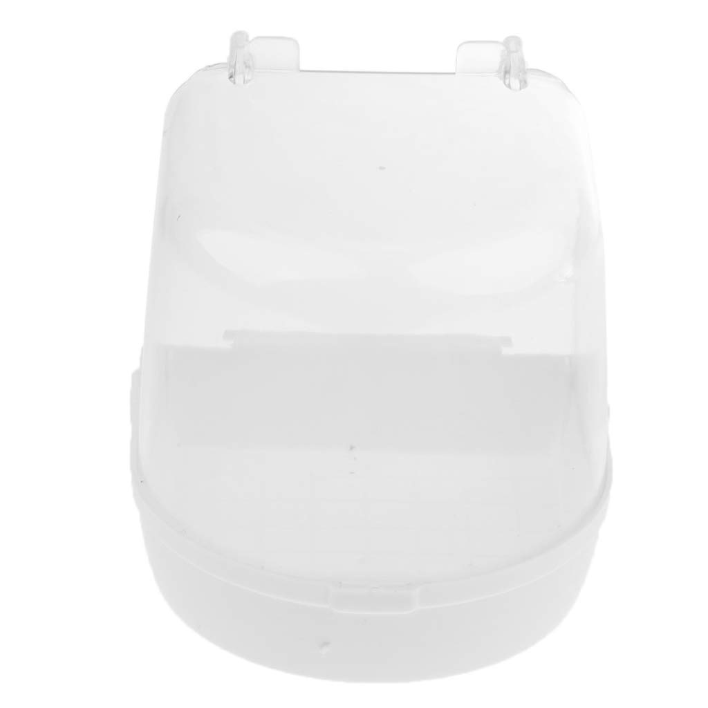 MagiDeal Hanging Bird Bath, Cube Bird Bathtub Bath Box Bowl Cage Accessory for Bird Parrot 13 x 13 x 13 cm - White non-brand