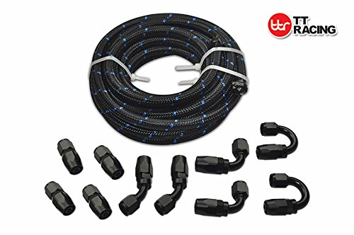 6 an hose black - 8
