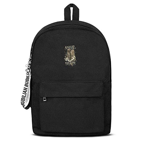 Death Angel of Joe Girl's Fashion Black Letter Canvas School Backpack Hiking Bag