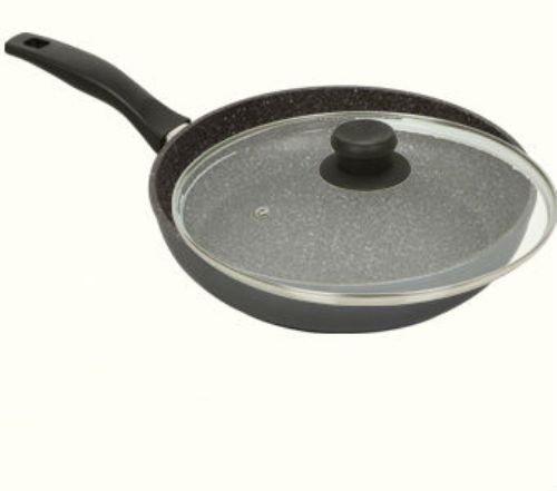 stoneline pfoa free nonstick stone cookware large 11 diameter fry pan w lid. Black Bedroom Furniture Sets. Home Design Ideas