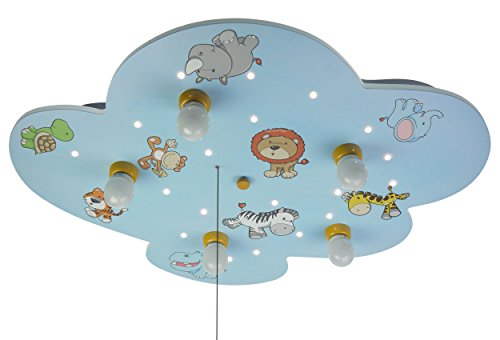 Niermann Standby Ceiling Lampe Wild Animals, Blue by Niermann Standby
