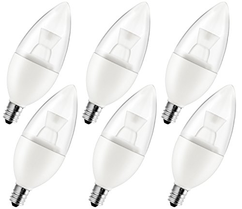 6pcs Pack 110V 5W E12 LED Candelabra Bulb - 2700K Warm Wh...