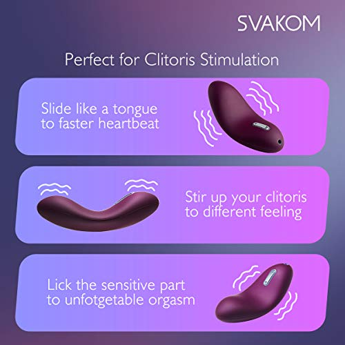 SVAKOM Echo Adult Sex Toys Vagina and Clitoris Vibrating Vibrators Mini Rechargeable Luxury Women Clitorial Vibes Stimulation Masturbation Sexual Wellness for Women(Violet) by SVAKOM (Image #4)'