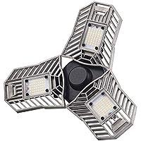 Coomoors Led Motion Sensor Garage Lights with 3 Adjustable Panels