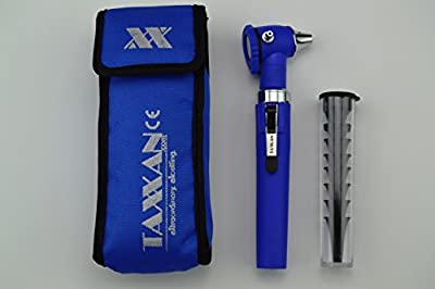 Taxxan Fiber Optic Otoscope Set Blue Pro Ent Diagnostic Set Otoscope With Disposable Speculum