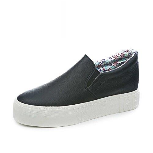Shoes C Printemps Étudiant women Chaussures Plat une Blanc Marées Chaussure Fu Épaisses À Pédales Chanceux De Semelles 6RRqa