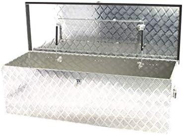 POINSETTIA Bo icirc;te à outils en aluminium de stockage de remorque pour camion 145x52x46cm argent hellip;