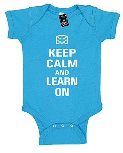 Infant Funny Baby Onesie Unisex T-Shirt Size 24 (Keep Calm and Read On 2)
