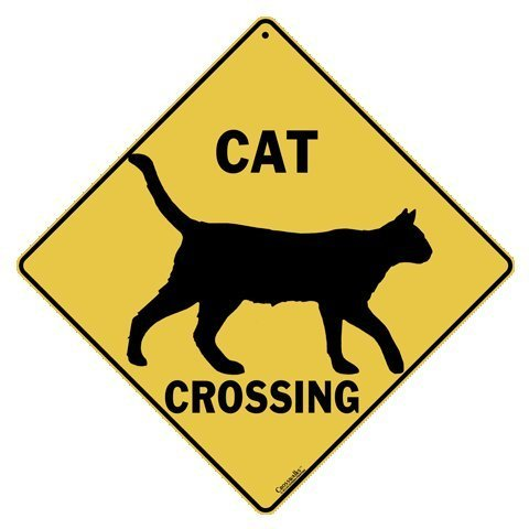 - CROSSWALKS Cat Silhouette Crossing 12