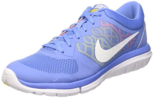 Nike Flex Run 2015, Running Femme multicolore (CHLK BL / WHITE HYPR ORNG VRSTY)