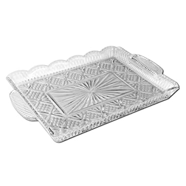 Godinger Dublin 14 by 11-Inch Crystal Rectangular Serving Tray