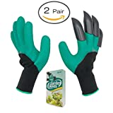 #4: Garden Gloves, Lucius Garden Gloves The Claw Garden with Quick Dig and Quick Plant No Plants Hurt Claws with 2 Pair of Gloves