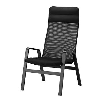 IKEA NOLBYN - sillón de respaldo alto, negro, negro: Amazon ...