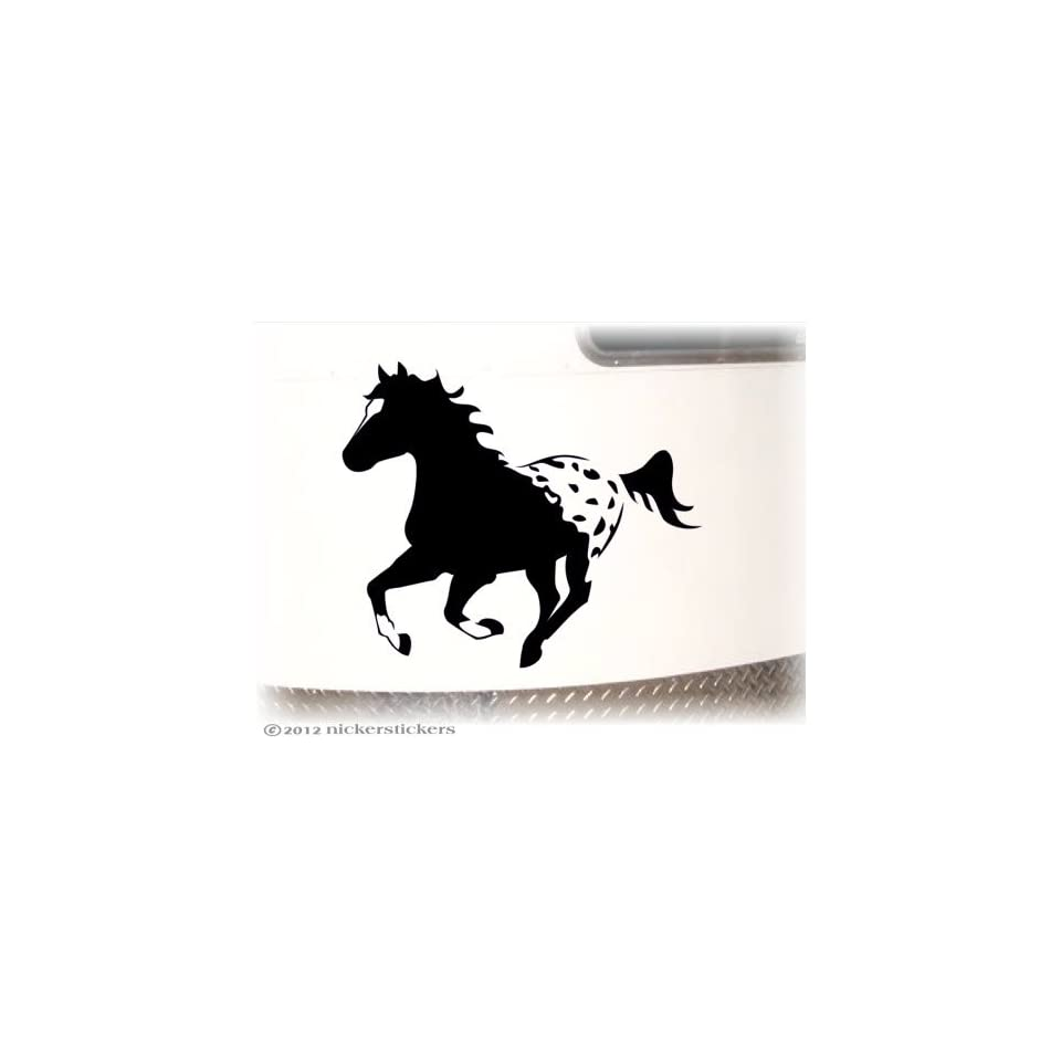 Galloping Appaloosa Horse Trailer Decal Sticker 15 x 18