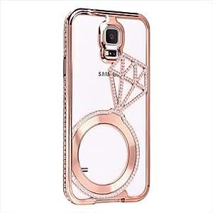 YULIN Teléfono Móvil Samsung - Cobertor Posterior/Contra Golpes/Carcasa Cubierta de Joyas -Color Sólido/Acabado Metálico/Diseño Especial/Apariencia de , Silver