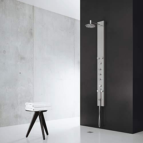 VIGO Dilana Rain Waterfall Shower Panel with Jets and Hand Shower