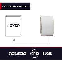 40 Rolos Etiquetas Adesivas para Balanças Toledo/Prix 40x60