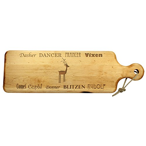 Holiday Artisan Plank - Maple 20''x 6'' - Reindeer Names
