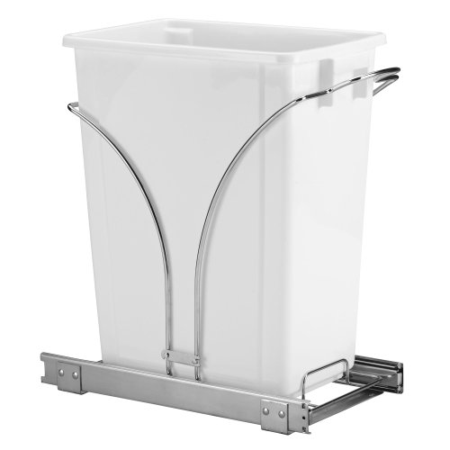 Household Essentials Under Cabinet Single Sliding Trash Can Caddy, 9-Gallon (Kitchen Under Counter Trash Can)
