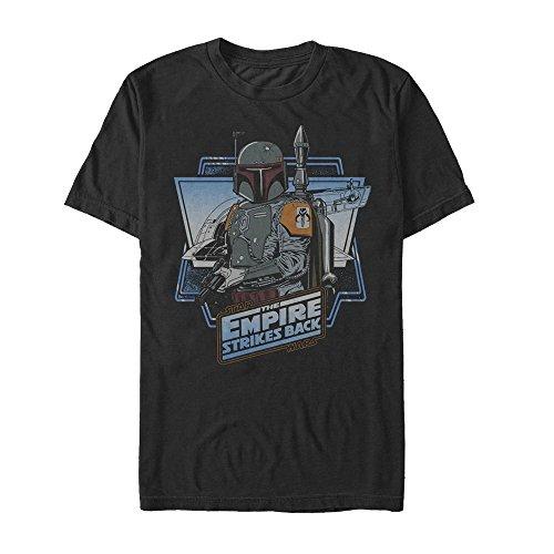 (Star Wars Men's Boba Fett Short Sleeve T-Shirt, Black, 4XL)