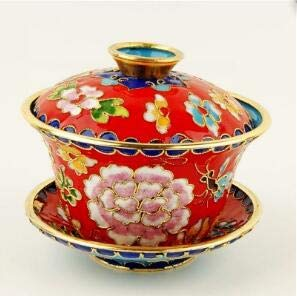 - Creative cloisonne enamel Pinch silk bowl cup ornaments go abroad to send foreigners small gifts Beijing tourist souvenirs gift