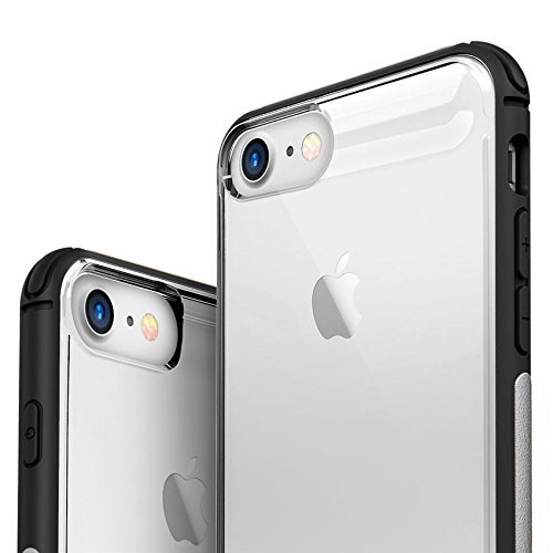 iPhone 8 Case/iPhone 7 Case – Zizo [flux Series] W/Free [iPhone 8 Screen Protecteur] Anti-Slip Grip [Crystal Clear Back] Military Grade Drop Tested