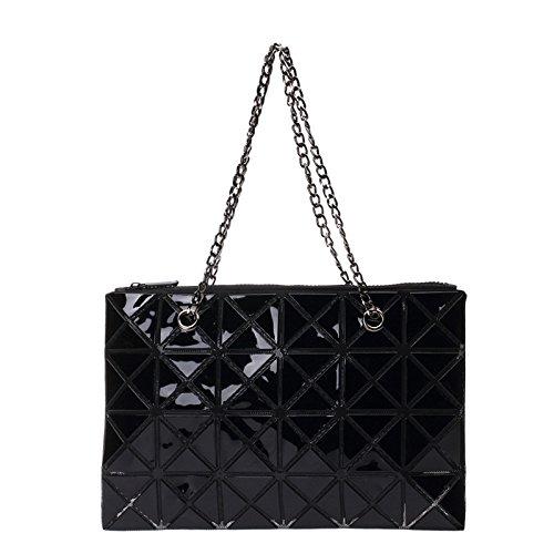 à Main Lingge Black Coréenne à Dames Sac Pliable Diagonale Sac Sac Main La Bandoulière CY Main à à Sac Mode Version De Couture Bag vwUvqxag