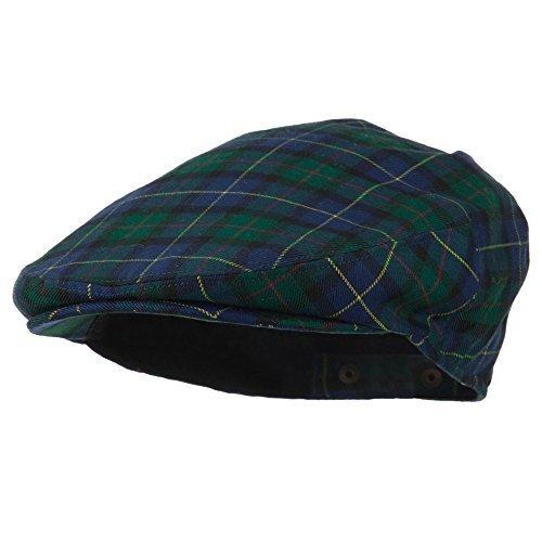 Men's Wool Blend Plaid Ivy Cap - Green OSFM
