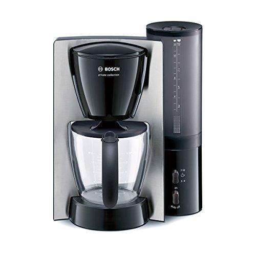 Bosch TKA6643 Kaffeemaschine private collection (1100 W maximal, Aromakreisel, auto-off-Schalter, Aromawahl-Schalter), blende edelstahl / schwarz