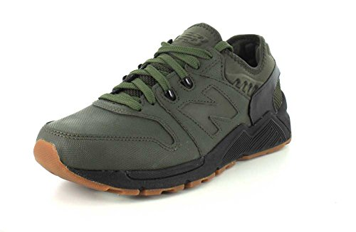 New Balance 009 Dark Green Neoprene Runner Trainers