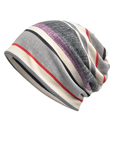 Luccy K Women's Striped Beanie Chemo Cap for Cancer Patients (Multicolour 26)]()