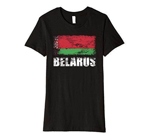 Womens Belarus Flag T-Shirt | Belarusian Flag Tee Small Black