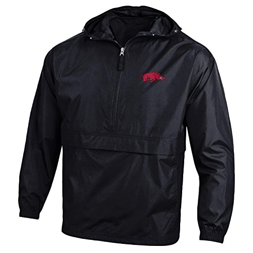 Arkansas Razorbacks Tee Pack (NCAA Arkansas Razorbacks Men's Pack & Go Jacket, Large, Black)