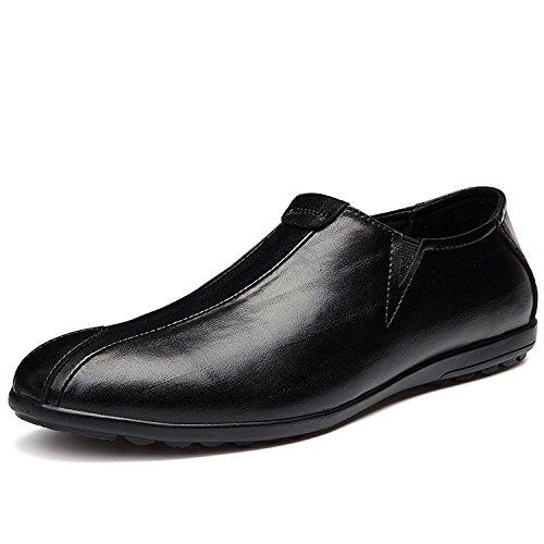 MOOKEY Pelle Scarpe Scarpe Uomo da da da Loafers Mocassini Barca Moda Scarpe Casual Pelle Nero Driving Elegante BBFrw7q4