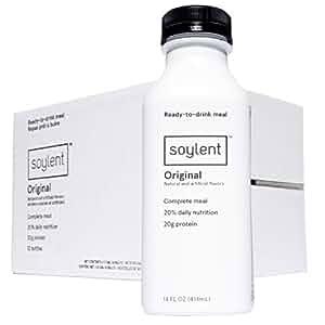 Soylent Meal Replacement Drink, Original, 14 oz Bottles, Pack of 12