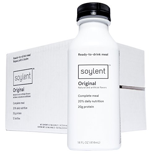 Soylent Meal Replacement Drink, Original, 14 oz Bottles, 12 Pack