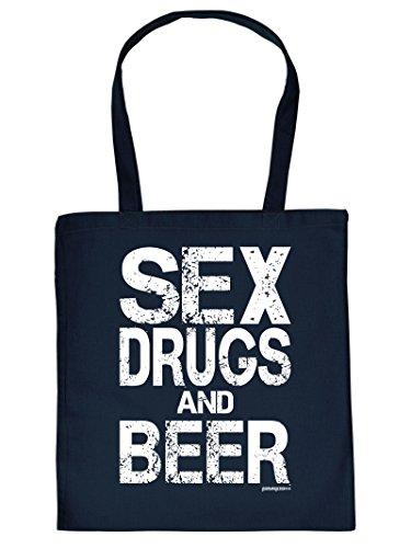 Bier Beer Tote Bag Henkeltasche Beutel mit Aufdruck Tragetasche Must-have Stofftasche Geschenkidee Fun Einkaufstasc