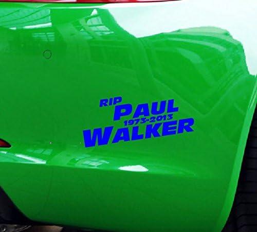 Dinger Design Aufkleber Rip Paul Walker Auto Jdm Tuning Oem Decal Stickerbomb Nissan 15x6 Cm Blau Auto
