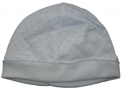 (Kissy Kissy Baby Dots Hat-White with Silver Dots-Newborn)