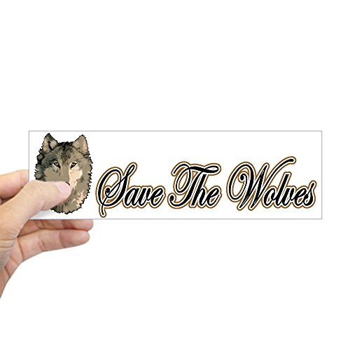 CafePress - Save The Wolves Bumper Sticker - 10