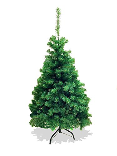 LavoHome 4-Feet Artificial Charlie Pine Christmas Tree with Metal Legs, Fullest (300Tips) (4 Ft Outdoor Christmas Tree)