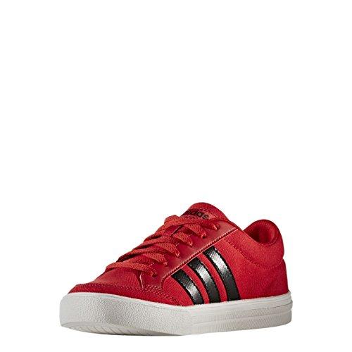 adidas VS SET K - Zapatillas deportivaspara niños, Rojo - (ESCARL/NEGBAS/FTWBLA), 4